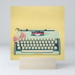 The Typewriter Mini Art Print
