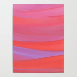 warm colorful wavy abstract mixer brush Poster