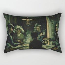 Vincent Van Gogh The Potato Eaters Rectangular Pillow