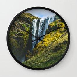 Subtle Skogafoss Wall Clock