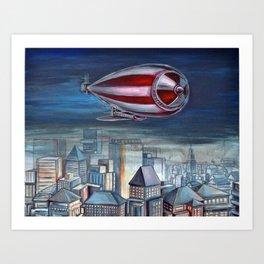 The airship Art Print