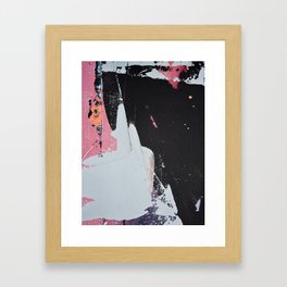 Profoundly [2]: a vibrant abstract piece in blues magenta and orange by Alyssa Hamilton Art Framed Art Print