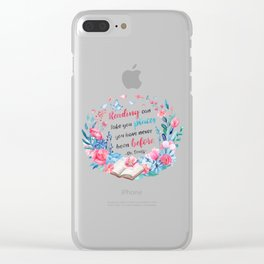 Reading can take you places Clear iPhone Case