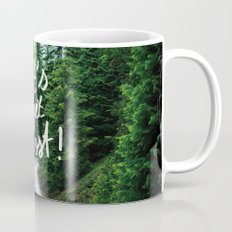 Let's get Lost! - Quote Typography Green Forest Mug