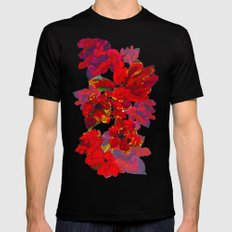Inky Tulips Black 2X-LARGE Mens Fitted Tee Black