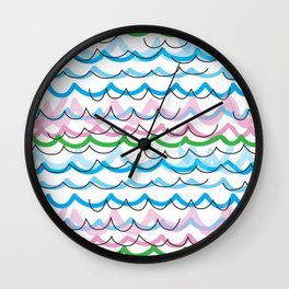 Summer seaside fun Wall Clock