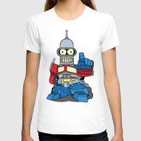 bender T-shirts featuring Optimus Bender by darko888
