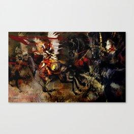 Polish Winged Hussars Canvas Print