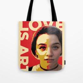 Love is Art Tote Bag