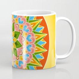 Costa Rica Folk Pattern – Decorated painting wheel of coffee ox cart Coffee Mug