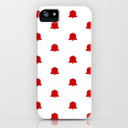 Bells Pattern White Background iPhone Case