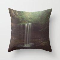 beaver Throw Pillows featuring Beaver Falls by Kevin Russ
