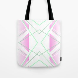 Delicate - pink and green abstract Tote Bag