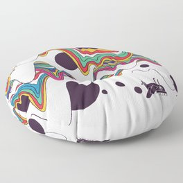 Psychedelic Planet Floor Pillow