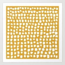 Dots (Mustard Yellow) Art Print