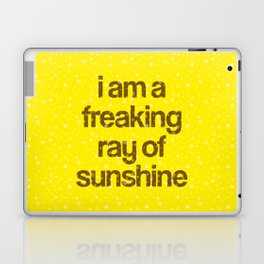 i am a freaking ray of sunshine (Sparkle Pattern) Laptop & iPad Skin