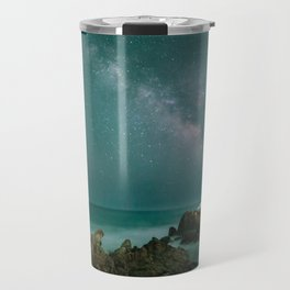 Milky way in the sky of Sardinia Travel Mug