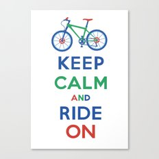 Keep Calm and Ride On Canvas Print