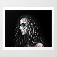 Feathers and Shadows Art Print