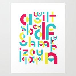 Counter Balance Typeface Art Print