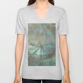 here with me Unisex V-Neck