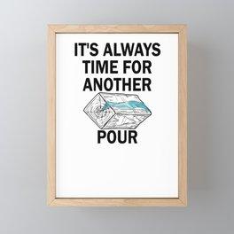 Epoxy Resin Whisperer River Table Art Framed Mini Art Print