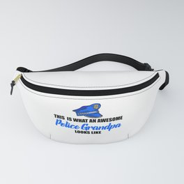 awesome police grandpa Fanny Pack