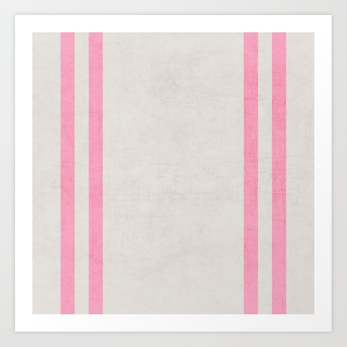 french linen - pink Art Print