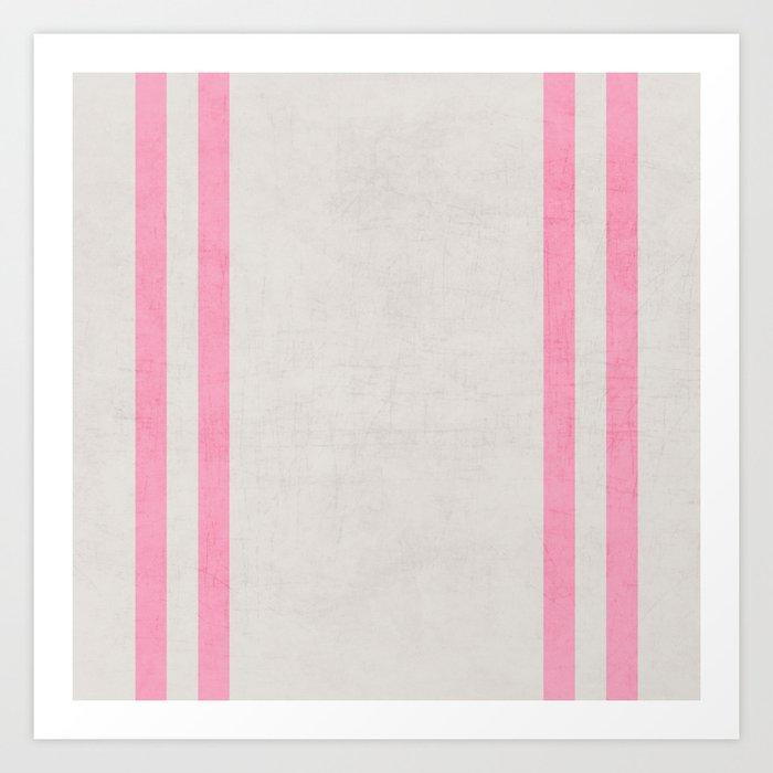 french linen - pink Art Print