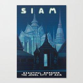 Bangkok Thailand - Siam Vintage Travel Canvas Print