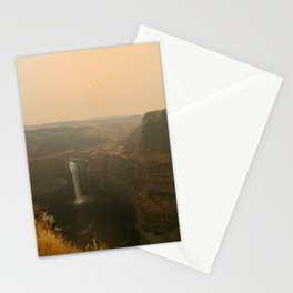 palouse falls during fire season, 2017 Stationery Cards