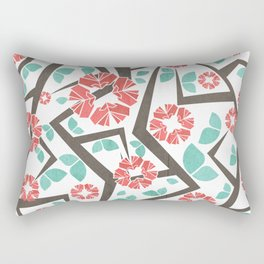 Blooming Trees Pattern IV Rectangular Pillow