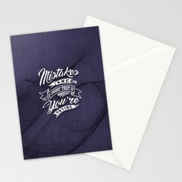 You're Trying - Inspirational Quotes. Stationery Cards
