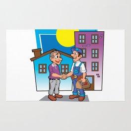 handyman handshake, Rug