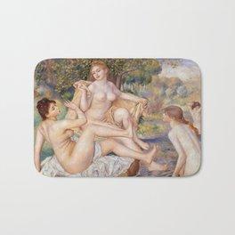 Les Grandes Baigneuses (The Large Bathers) by Auguste Renoir Bath Mat