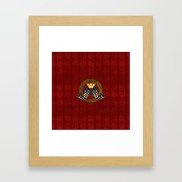 Good Fortune Symbol with Koi Fish and coin Framed Art Print