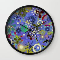 asia Wall Clocks featuring Asia Blue by gretzky