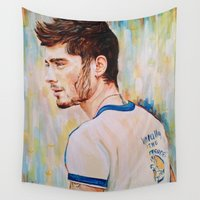 zayn Wall Tapestries featuring Zayn Malik One Direction by Iván Gabela