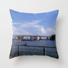 Canalside Throw Pillow