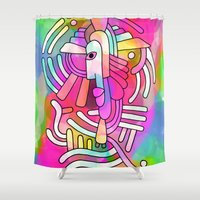 - summer maya - Shower Curtain