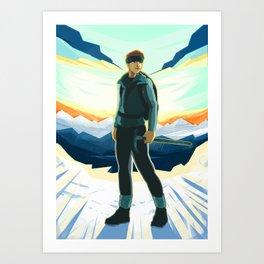 Mountain Climber Art Print