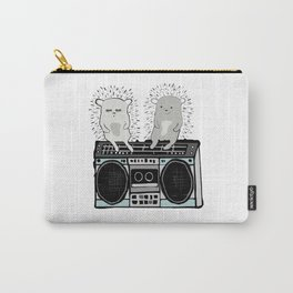 Hedgehogs on Boombox Carry-All Pouch