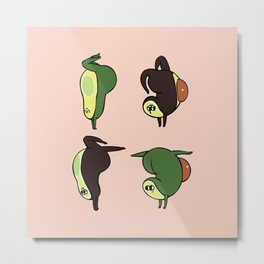 Handstand Avocado Metal Print