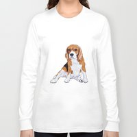 beagle Long Sleeve T-shirts featuring Beagle by hadkhanong
