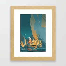Master and student Framed Art Print