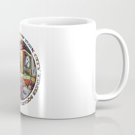 Times Square New York City (badge emblem on white) Coffee Mug