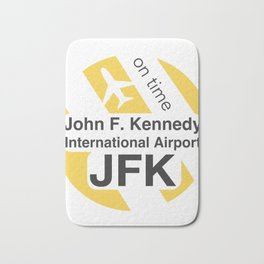 JFK Round yellow Bath Mat