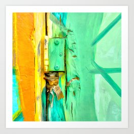 Creation seems to come out of imperfection Art Print