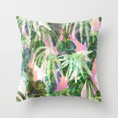 Lindsey Tropical pink Throw Pillow