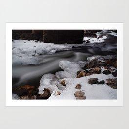 Frozen Poudre Art Print